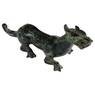 Chinese Bronze Ferret Statue