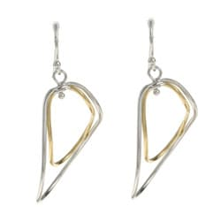 La Preciosa Sterling Silver Twisted Oval Earrings