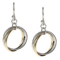 La Preciosa Sterling Silver Triple Circle Earrings