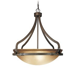 Woodbridge Lighting Wayman 3-light Bronze Pendant