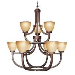 Woodbridge Lighting Wayman 9-light Bronze Chandelier