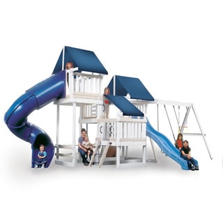 Congo Monkey Playsystem #4 White Maintenance and Splinter Free Swing Set
