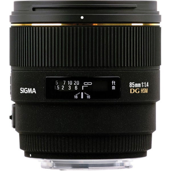 Sigma 320101 85 mm f/1.4 Telephoto Lens for Canon EF / EF-S