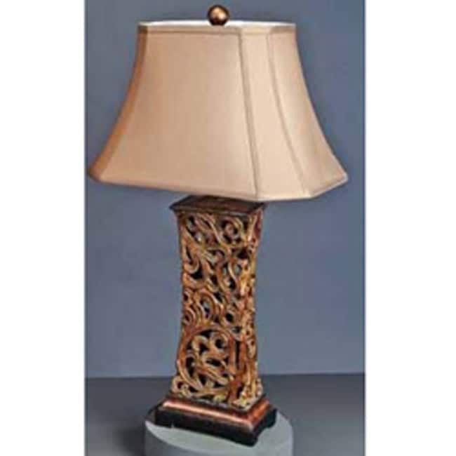 Stately Gates Antique Bronze Accented Table Lamp
