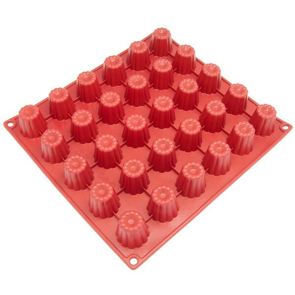 Freshware 30-cavity Silicone Mini Cannele Pan