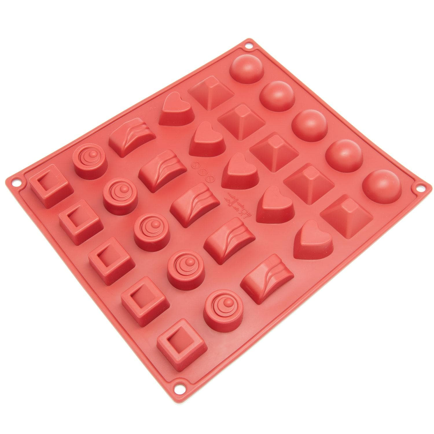 Freshware 30-cavity Silicone Chocolate, Jelly and Candy Mold