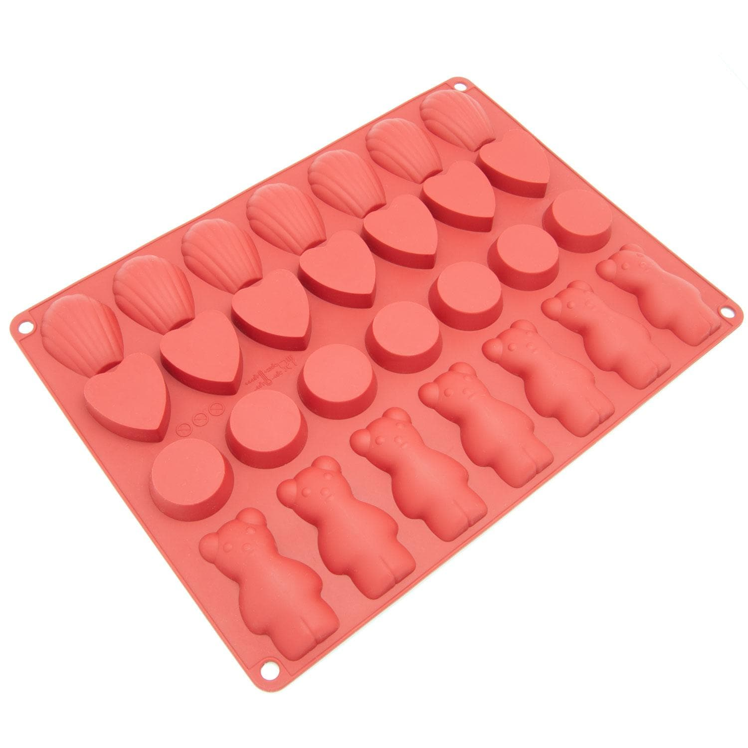 Freshware 28-cavity Silicone Chocolate, Cookie, Candy and Pastry Mold