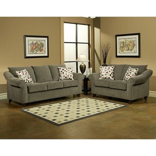 Furniture of America Aille 2-piece Sofa and Loveseat Set