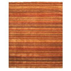 Handmade Lori Toni Stripe Wool Rug (4' x 6')