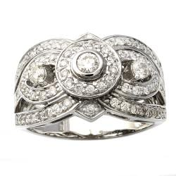 Beverly Hills Charm 14k White Gold 7/8ct TDW 3-stone Diamond Ring (Size 7)