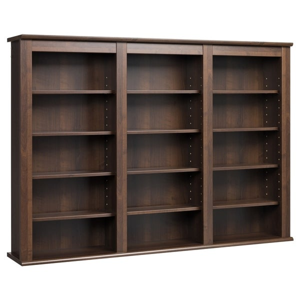 Everett Espresso Wall -hanging Media Storage Cabinet 8085363