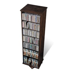 Prepac Everett Espresso 2-sided Spinner Media Storage Cabinet