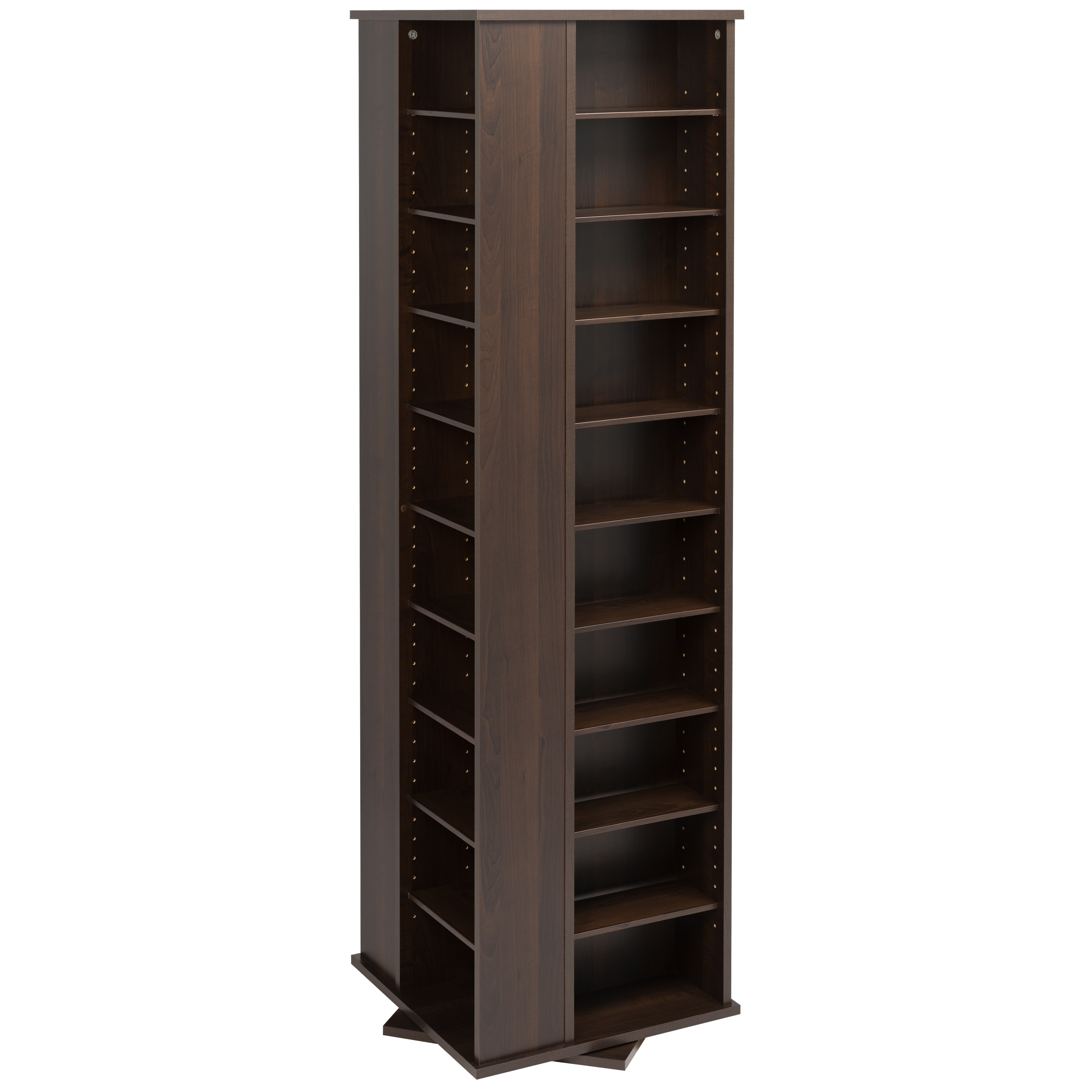 Prepac Everett Espresso 4-sided Spinner Media Storage Cabinet at Sears.com