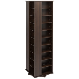 Prepac Everett Espresso 4-sided Spinner Media Storage Cabinet