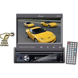 Lanzar SDIN74DU 7-inch Motorized Touchscreen DVD Car Stereo