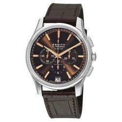 Zenith Men's '36000 VPH' Automatic Brown Dial Chronograph Watch