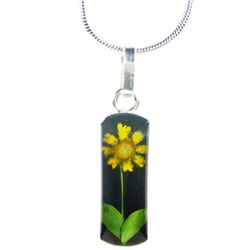 Sterling Silver Mini Sunflower Necklace (Mexico)
