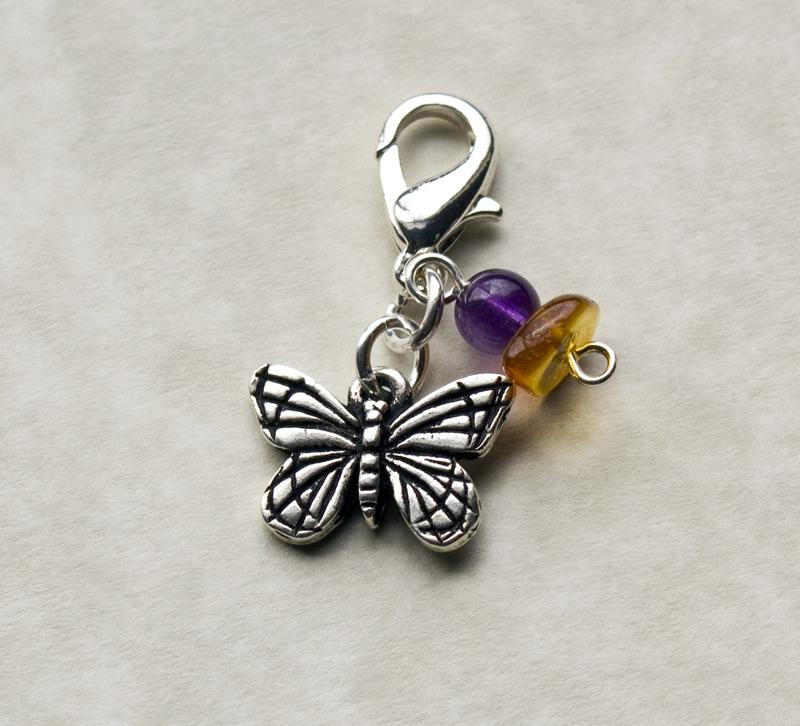 Fashion Forward Pewter Monarch Butterfly Charm
