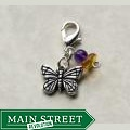 Fashion Forward Pewter Monarch Butterfly Charm