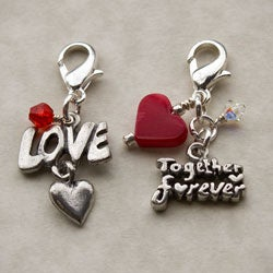 Fashion Forward Pewter Together Forever/ Love Charms (Set of 2)