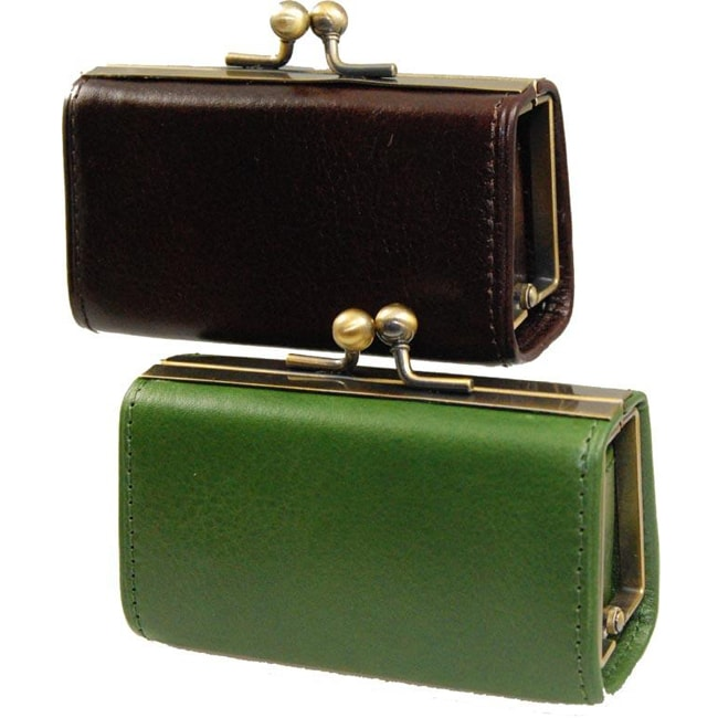Castello 'Torino' Leather Coin Purse