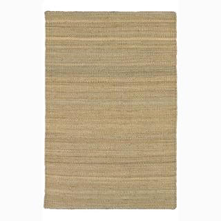 Handwoven Mandara Natural Living Casual Jute Rug (3'6 x 5'6)