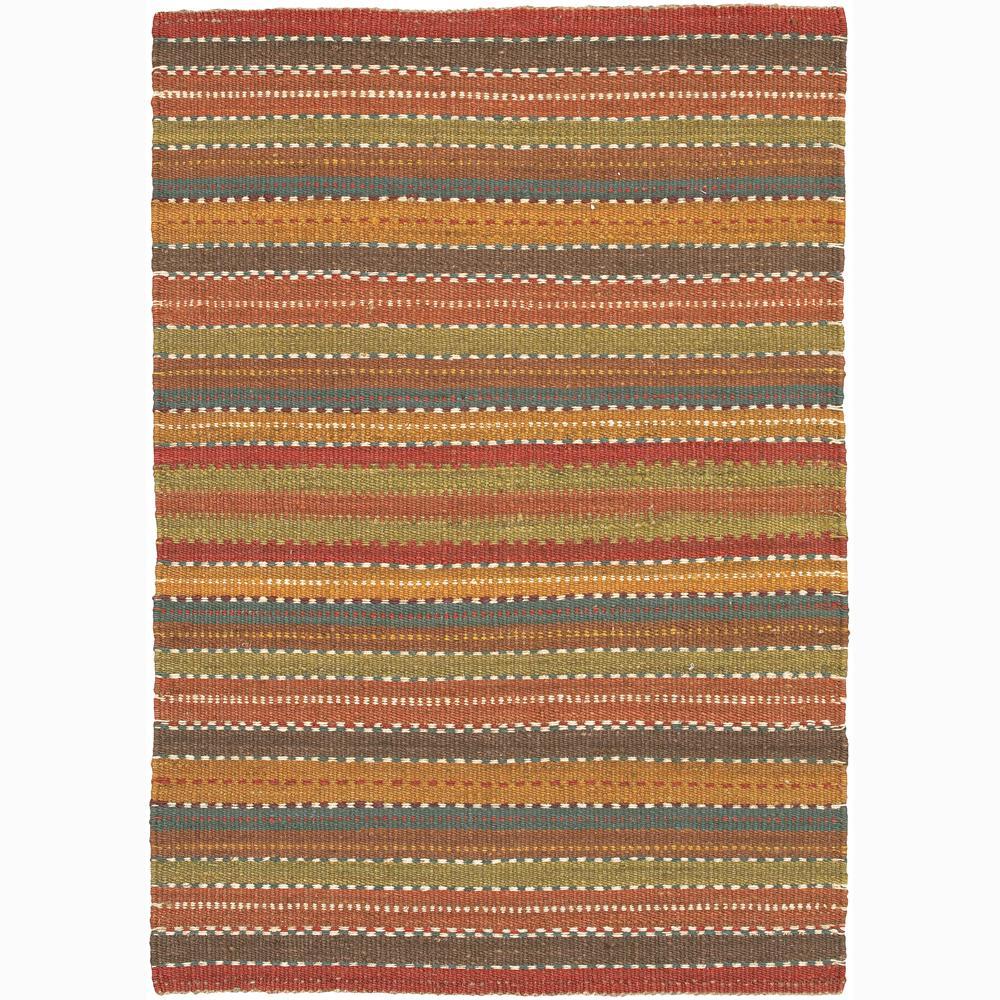 Hand-woven Mandara Natural Living Jute Stripe Rug (7'9 x 10'6)