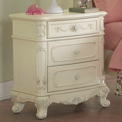 Fairytale Victorian Princess White Nightstand (Set of 2)