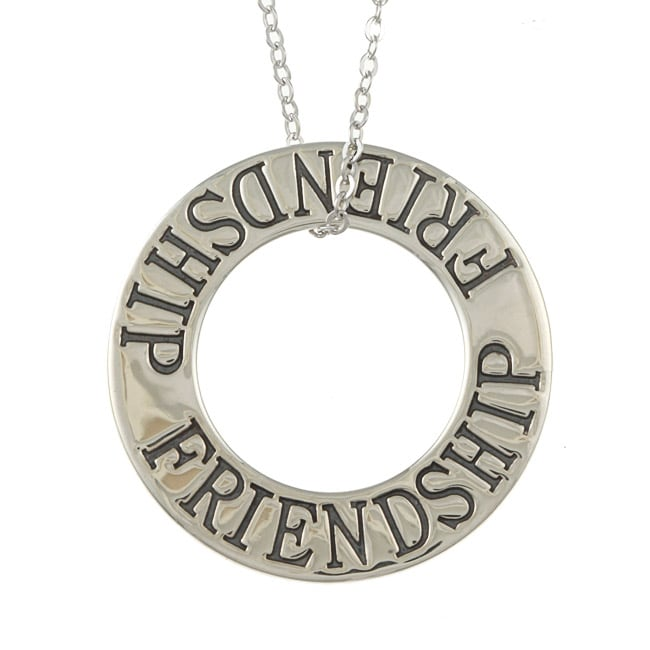 La Preciosa Sterling Silver Open Circle 'Friendship' Necklace