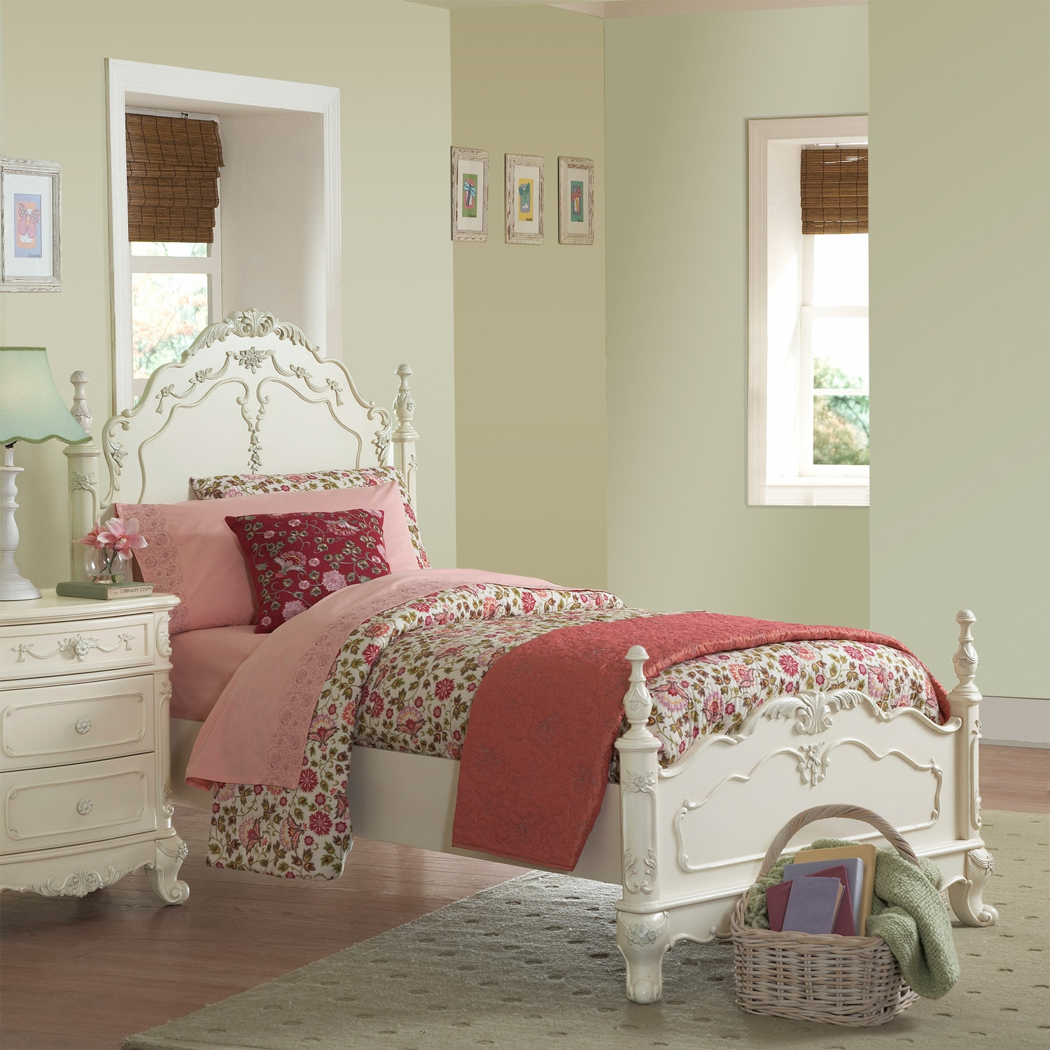 Tribecca home fairytale victorian princess white twin size for Fairytale beds
