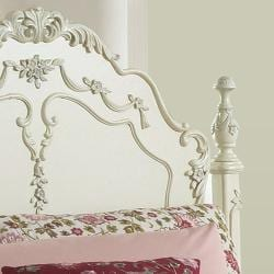 TRIBECCA HOME Fairytale Victorian Princess White Twin-size Bed