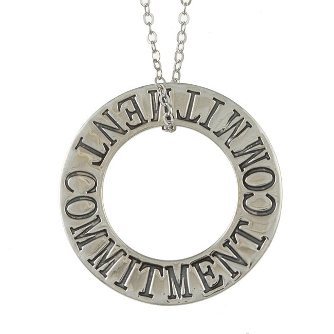 La Preciosa Sterling Silver Open Circle 'Commitment' Necklace