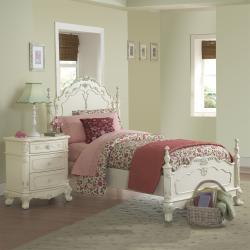 Fairytale Victorian Princess Full-size Bed and Nightstand