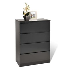 Escala Black Four-drawer Dresser