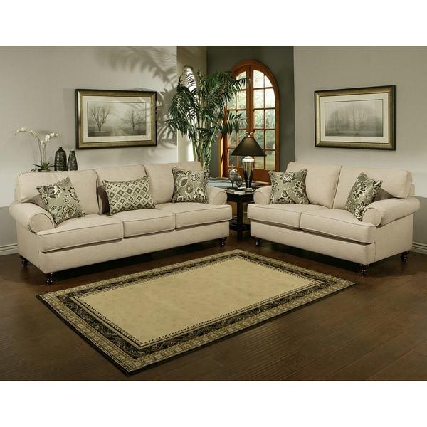 Furniture of america prosper sofa and loveseat furniture for Furniture set deals