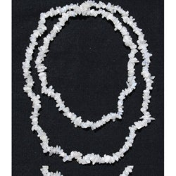 Handcrafted White Quartz Chip Necklace (Afghanistan)