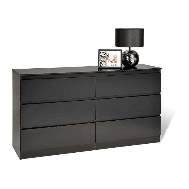 Escala Black Six-drawer Dresser