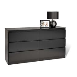Escala Black Six-drawer Dresser