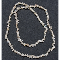 Handcrafted Light Grey Quartz Chip Necklace (Afghanistan)