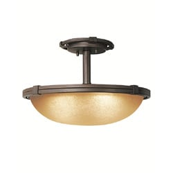 Woodbridge Lighting Wayman 2-light Bronze Semi-flush Mount