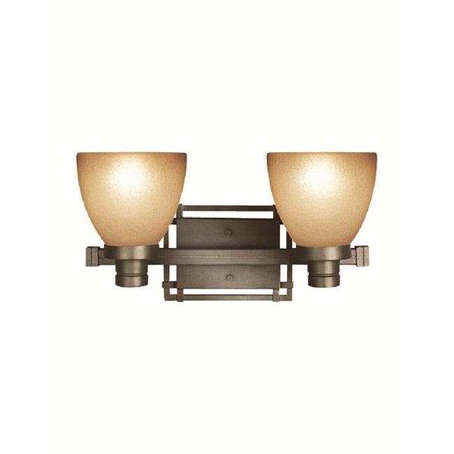 Woodbridge Lighting Wayman 2-light Bronze Bath Bar