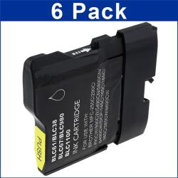 Brother LC-61 Compatible Black Ink Cartridges (Pack of 6)