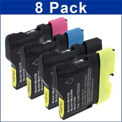 Brother Compatible LC-61 Black Color Ink Cartridges (Pack of 8)