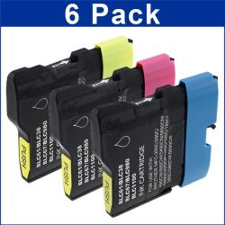 Brother LC-61 Compatible 6-piece Color Ink Cartridges