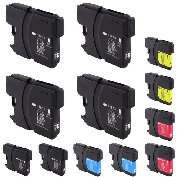 INSTEN Brother Compatible LC-61 Black/ Color Ink Cartridges (Pack of 12)