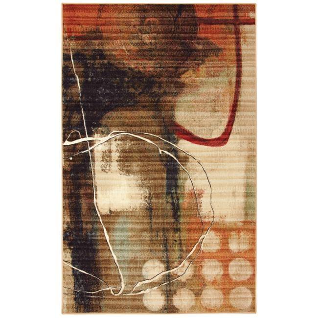 Sundance Abstract Beige Rug (5' x 8')