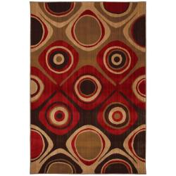 Danger Zone Red Rug (5'3 x 7'10)