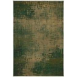Inferno Green Abstract Rug (5'3 x 7'10)