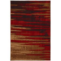 Magma Red/Beige Rug (5'3 x 7'10)