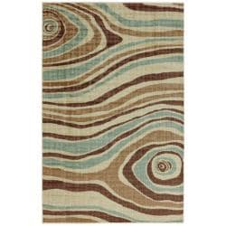 Cyclone Ivory Abstract Rug (5' x 8')